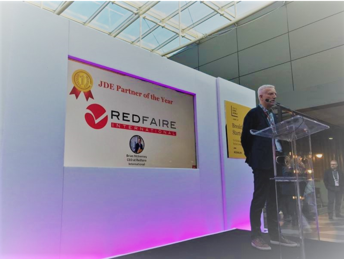 Redfaire International Receive JDE Partner of the Year 2020 Award