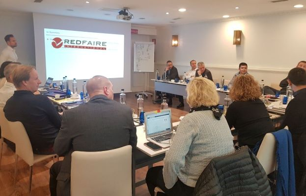 Redfaire International team meet to discuss JD Edwards and Digital Transformation in 2020