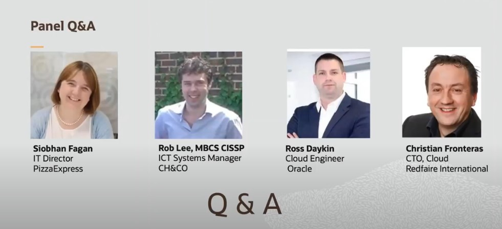 JD Edwards on Oracle Cloud - Q&A session with PizzaExpress and CH&CO