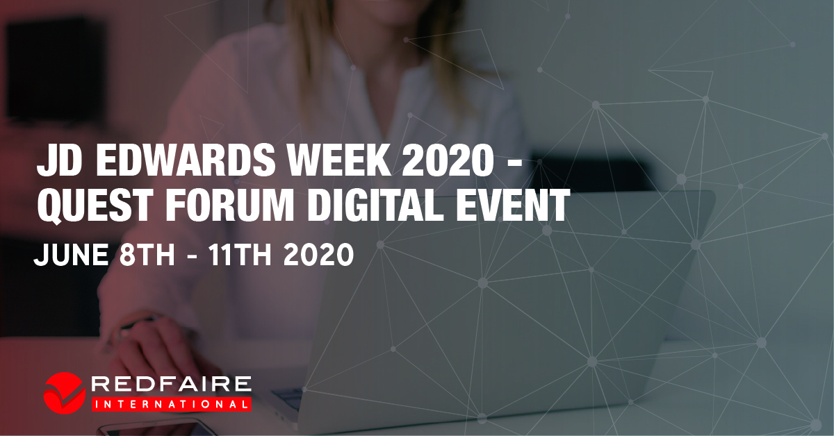 JD Edwards Week June 2020 - Quest Forum Digital Event