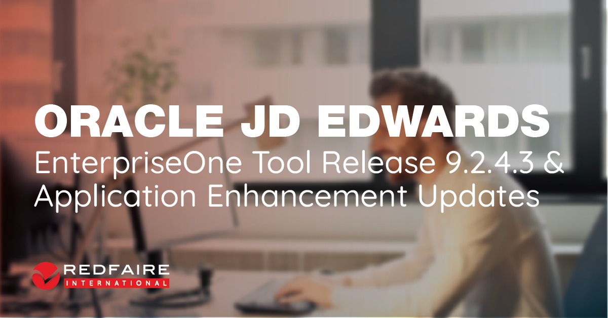 JD Edwards EnterpriseOne Tools Release 9.2.4.3