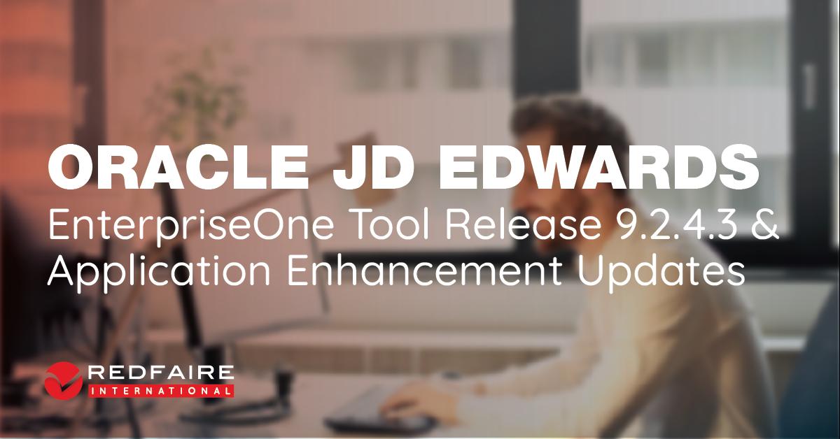 JD Edwards EnterpriseOne Tools Release 9.2.4.3 Image