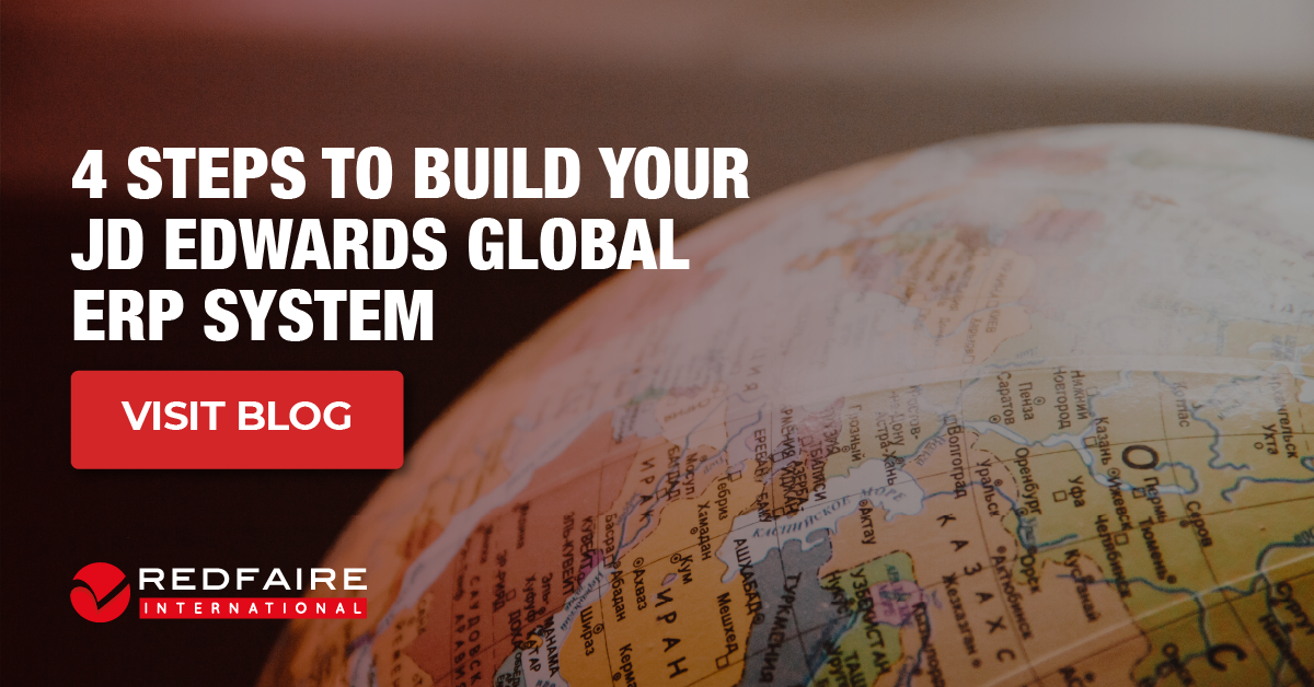 4 Steps to Build your JD Edwards Global ERP System.