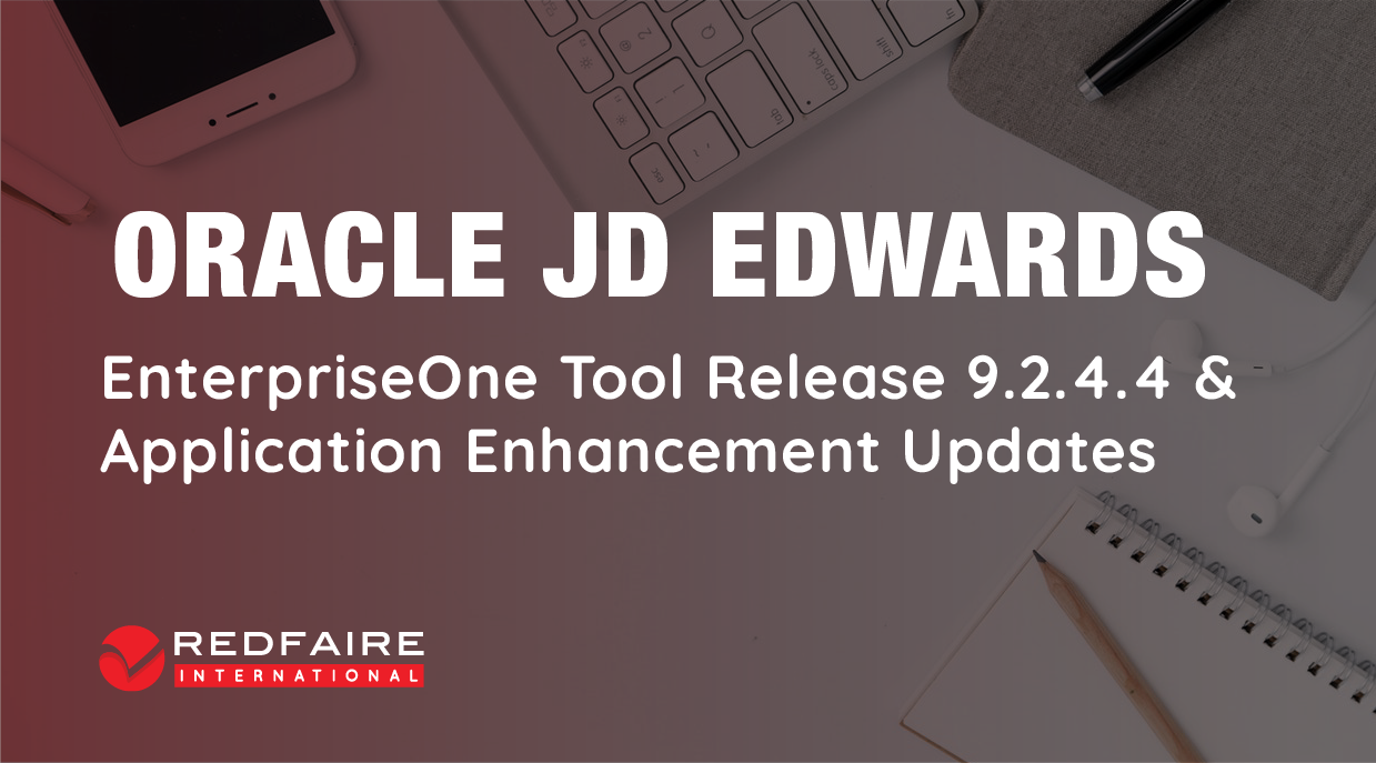 JD Edwards EnterpriseOne 9.2.4.4 Release