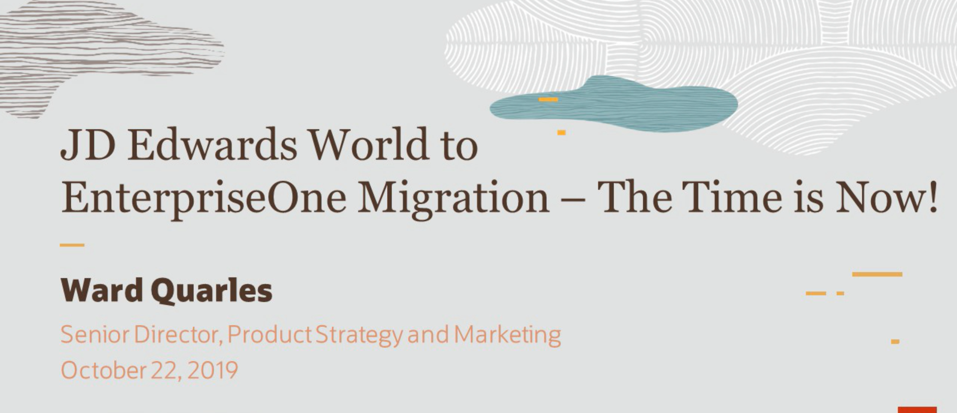 JD Edwards World to EnterpriseOne Migration