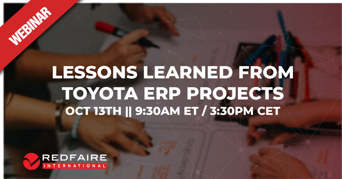 Lessons Learned from Toyota ERP Projects